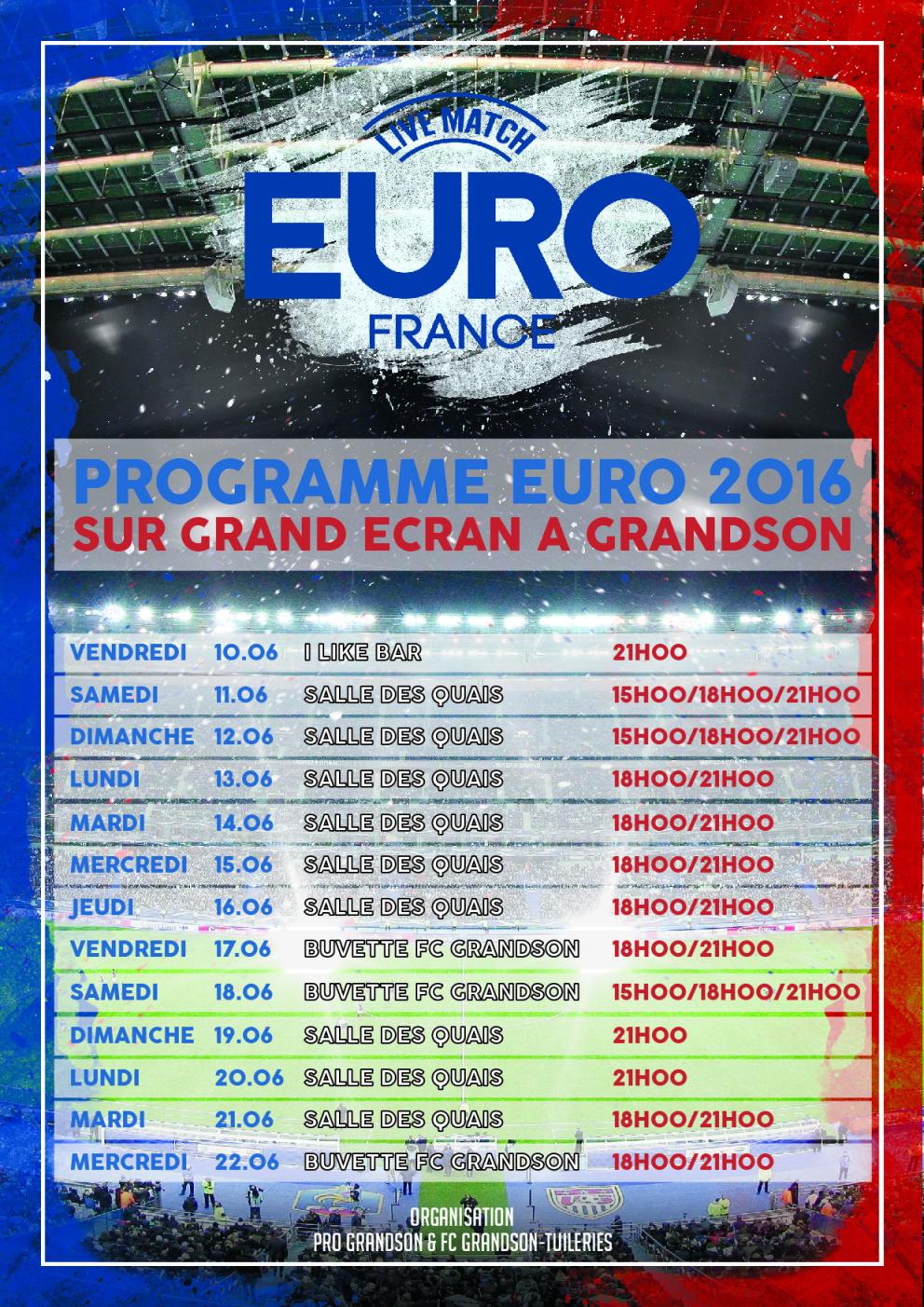 Programme Euro 1
